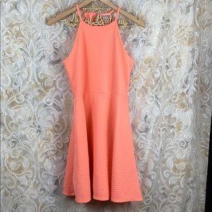 🆕 Mossimo Medium Neon Coral Pink Orange Dress
